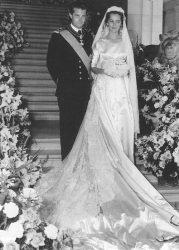 Наследный принц Бельгии Альберт, и его невеста донна Паола Маргарита Мария Антония Руффо ди Калабриа. 1959 г.