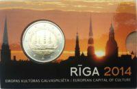 2 euro Latvia coincard 2014 Riga cover