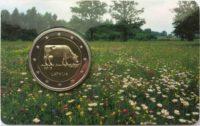 2 euro Latvia coincard 2016 Cow