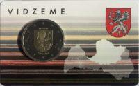 2 euro Latvia coincard 2016 Vidzeme