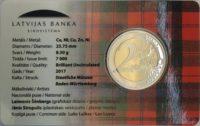 2 euro Latvia coincard 2017 Kurzeme