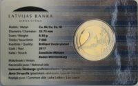 2 euro Latvia coincard 2017 Latgale