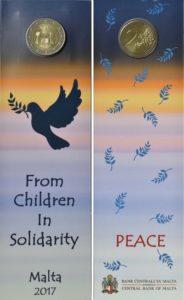 Мальтийская монета 2017 года «Солидарность через Мир» в закладке