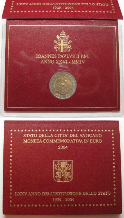 2 euro vatican 2004 folder
