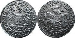 Полугрош Сигизмунда II Августа 1554 года.