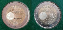 Монета Люксембурга под разными углами зрения