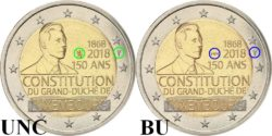 2 евро, Люксембург (150-летие Конституции Люксембурга)