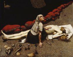 Мать Лемминкяйнена (Аксели Галлен-Каллела, 1897 г.)