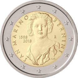 2 евро, Сан-Марино (420 лет со дня рождения Джованни Лоренцо Бернини)