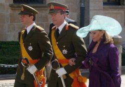 Герцог Люксембургский с супругой Терезой и сыном Гийомом