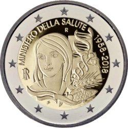 2 евро, Италия (60-летие Министерства здравоохранения Италии)