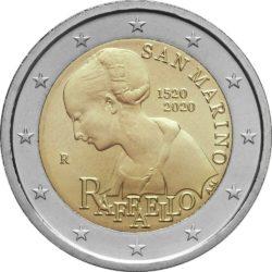 2 евро, Сан-Марино (500 лет со дня смерти Рафаэля Санти)