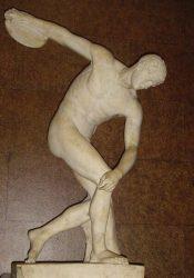 Статуя древнегреческого скульптора Мирона «Дискобол», римская копия