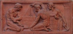 Рельефное изображение на Берлинской академии архитектуры работы Карла Шинкеля.