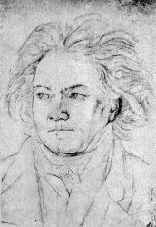 Людвиг Бетховен (Август фон Клебер, 1819)