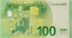 Euro banknote 100 euro 2019 rev