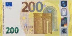 Euro banknote 200 euro 2019 obv