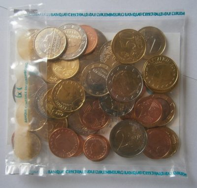 Luxembourg euro 2008 sachet 5 series x 8 pieces