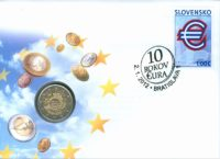 2 euro Slovakia 2012. Numismatic Cover