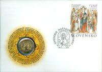 2 euro Slovakia 2013. Numismatic Cover