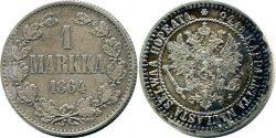 1 Finnish markka 1864