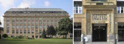 Здание Австрийского национального банка. Справа — портал главного входа здания.