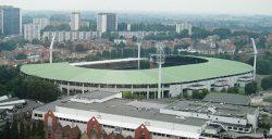 Стадион Хайзель, вид с Атомиума