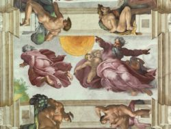 Sistine Chapel ceiling - Creation of the Sun, Moon, and Planets
