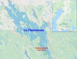 Национальный парк Коли на карте Финляндии