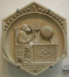 Барельеф из кафедрального собора Флоренции Санта-Мария-дель-Фьоре (Santa Maria del Fiore) работы Андреа Пизано. 1334—1336 гг.