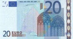 20 евро, лицевая сторона