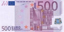 500 евро, лицевая сторона
