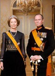 Великий герцог Жан с супругой Жозефиной-Шарлоттой Бельгийской