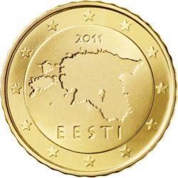 10 евроцентов Эстонии, аверс