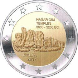 2 евро, Мальта (Храмы Хаджар-Кима)
