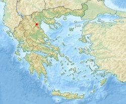Дион на карте Греции