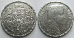 5 лат образца 1931 года (Ag 835, 25,0 г, 37,0 мм)