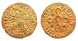 Золотой морабитино, чеканенный при Саншу II