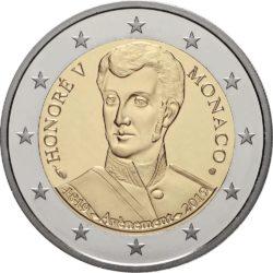 2 евро, Монако (200-летие вступления на престол князя Монако Оноре V)