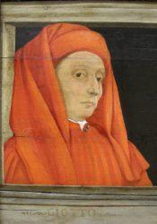 Портрет Джотто неизвестного автора (деталь картины «Пять мастеров флорентийского Возрождения», кон.XV — нач.XVI вв., Лувр)