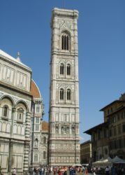 Колокольня собора Санта-Мария-дель-Фьоре (Джотто — автор проекта и первый архитектор)