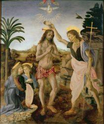 «Крещение Христа» (1472—1475, Уффици, Флоренция)