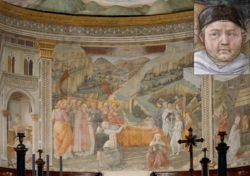 На фреске Сполетского собора «Успение Богородицы» (ок. 1467-1469) Филиппо Липпи изобразил и себя (справа от кровати в белой накидке)