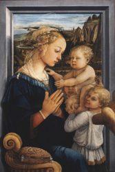 «Мадонна с младенцем и двумя ангелами» (ок.1465 г., Галерея Уффици, Флоренция)